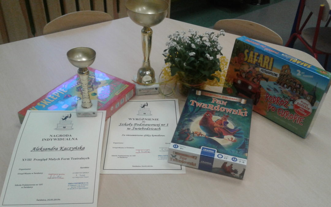 Wyróżnienie dla szkoły i nagroda indywidualna